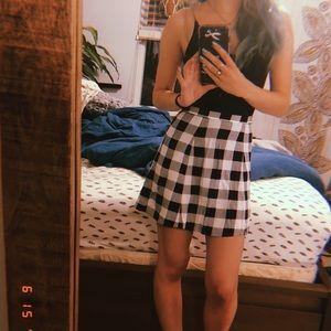 Sexy black and white mini skirt